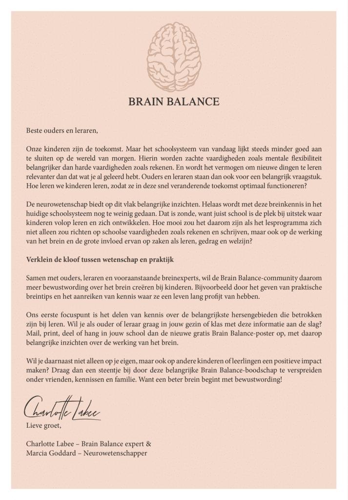 Brain Balance Scholenactie